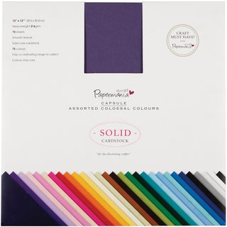 "Papermania Premium Smooth Solid Cardstock Pack 12""X12"" 75/Pk-Colossal"