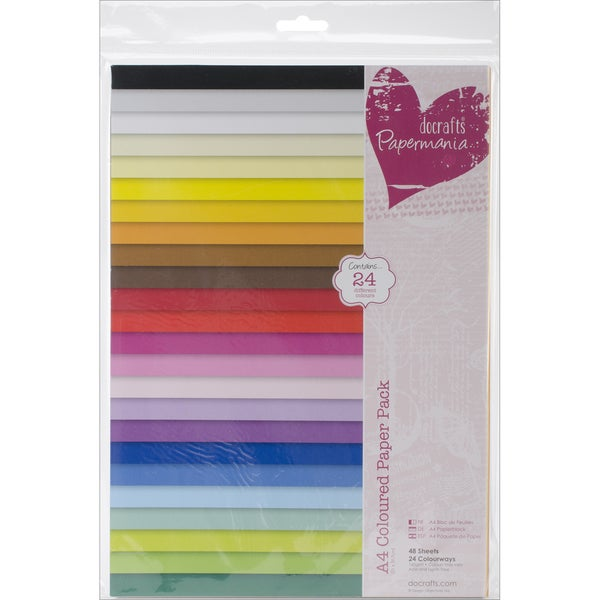 Papermania Paper Pack A4 48/Pkg-Coloured