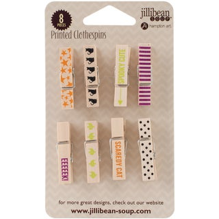 Halloween Clothes Pins 8/Pkg-Black Cat