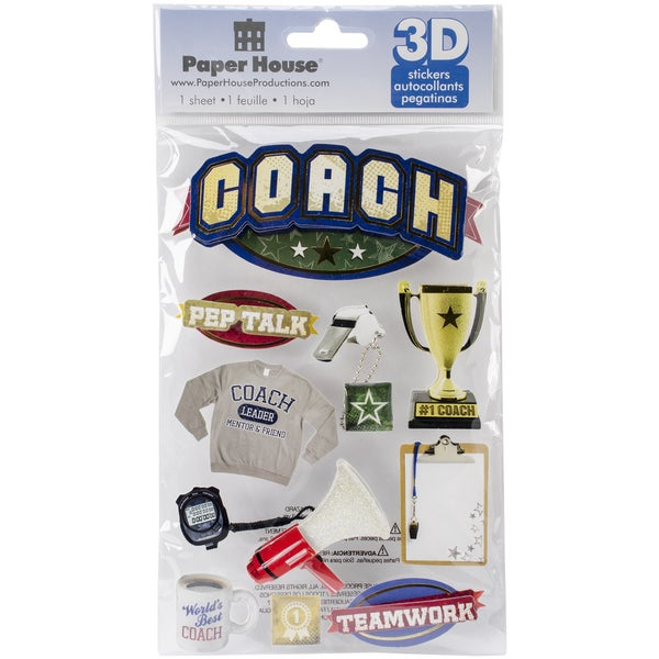 Paper House 3D Stickers-Coach