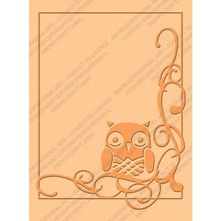 Cuttlebug A2 Embossing Folder-Owl Flourish