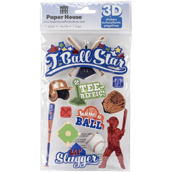 Paper House 3D Stickers-T-Ball Star