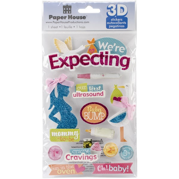 Paper House 3D Stickers-We're Expecting