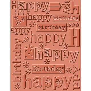 Cuttlebug A2 Embossing Folder-Happy Birthday