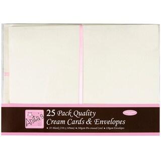 Anita's Cards/Envelopes A5 25/Pkg-Cream