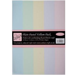 Anita's Parchment Vellum A4 10/Pkg-Plain Pastels