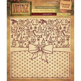 "Embossalicious Embossing Folders 6""X6""-Christmas Present"