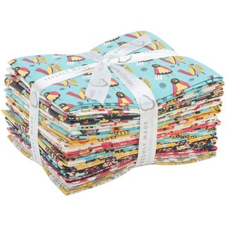 "Birds of a Feather-Allison Cole 18""X21"" Fat Quarters-Birds of a Feather-15pcs"