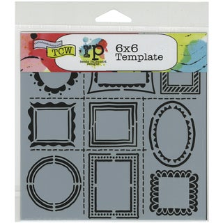 """Crafter's Workshop Template 6""""X6""""-Hand Drawn Frames"""
