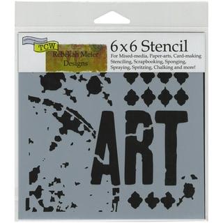 "Crafter's Workshop Template 6""X6""-Viva La Art"