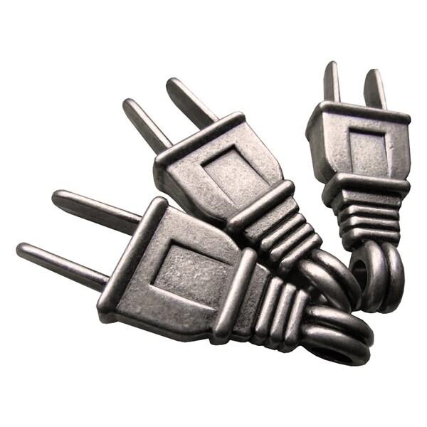 Silver Embellishments 8/Pkg -Plugs