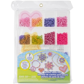 Perler Fun Fusion Fuse Bead Activity Kit-Jewelry Tray
