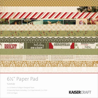 "Kaisercraft Paper Pad 6.5""X6.5"" -Yuletide"