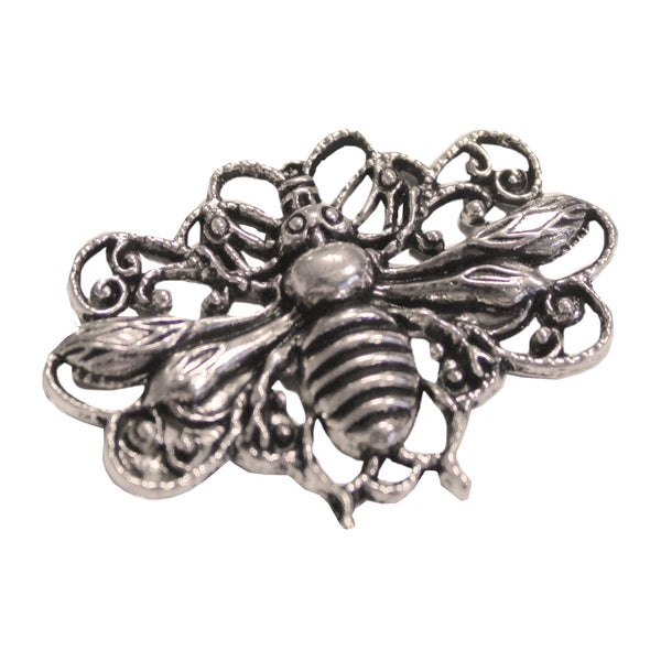 Silver Embellishments 15/Pkg-Honey Bees