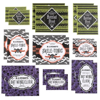 Gothic Lace Drink Labels 18/Pkg-Assorted