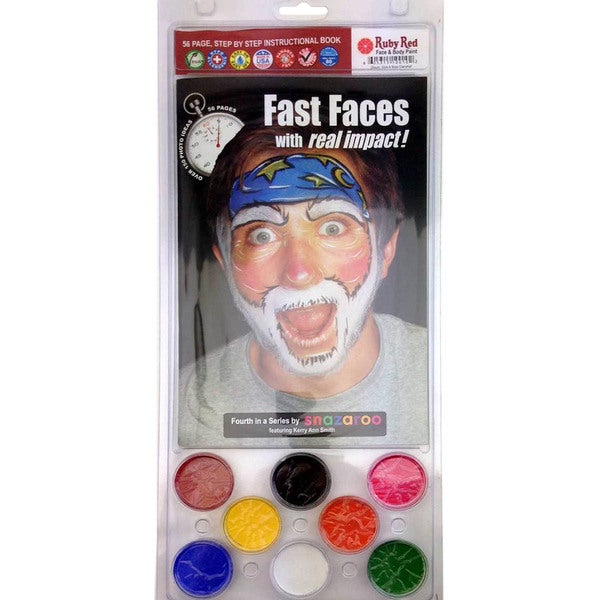 Ruby Red Book Clam Kit-Fast Faces