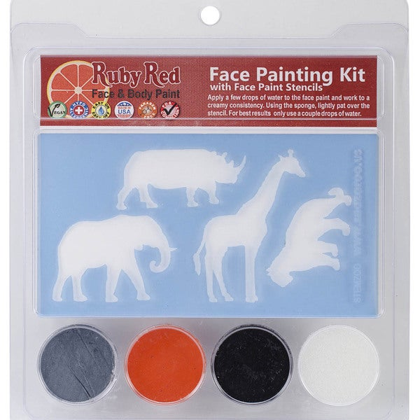 Ruby Red Face Painting Stencil Kit-Zoo