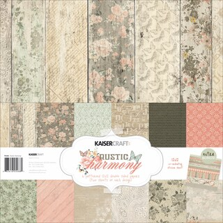 "Kaisercraft Paper Pack 12""X12"" 12/Pkg-Rustic Harmony"