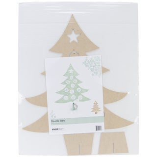 """Beyond The Page MDF Bauble Tree-21.25""""X17.75""""X3/5"""""""