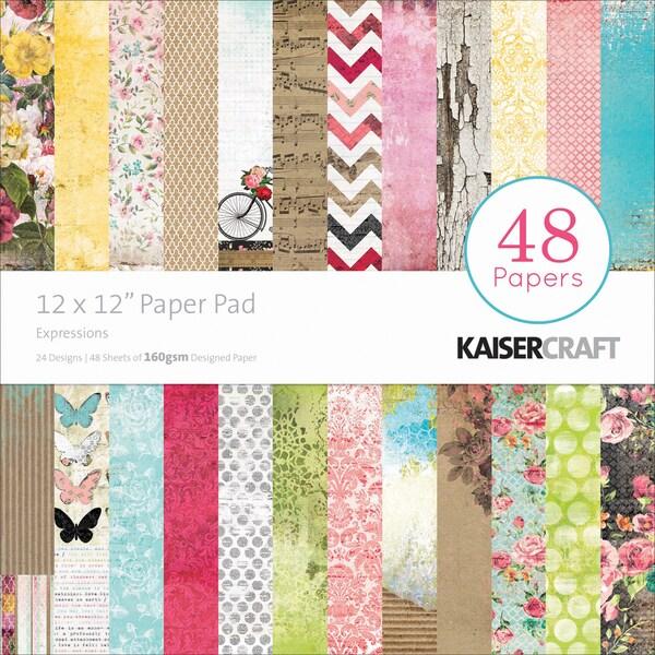 "Kaisercraft Paper Pad 12""X12"" 48/Pkg-Expressions"