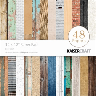 "Kaisercraft Paper Pad 12""X12"" 48/Pkg-Base Coat"