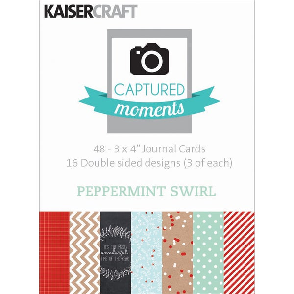 "Captured Moments Double-Sided Cards 3""X4"" 48/Pkg-Peppermint Swirl"