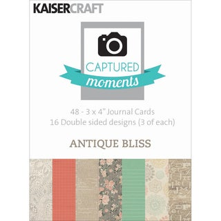 """Captured Moments Double-Sided Cards 3""""X4"""" 48/Pkg-Antique Bliss"""