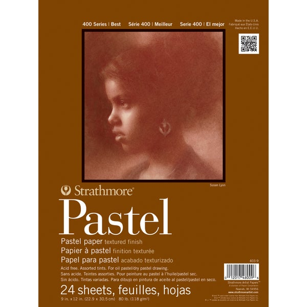 """Strathmore Assorted Pastel Paper Pad 9""""X12""""-80lb 24 Sheets"""