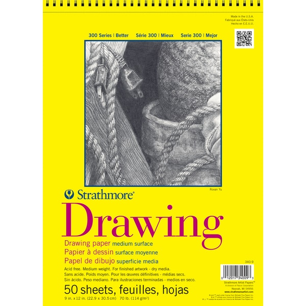 """Strathmore Drawing Paper Pad 11""""X14""""-70lb 50 Sheets"""