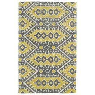 Hand-tufted de Leon Boho Yellow Rug (9'0 x 12'0)