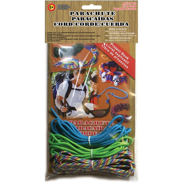 Parachute Cord 550 Super Value Pack-Turquoise, Neon Green & Rainbow