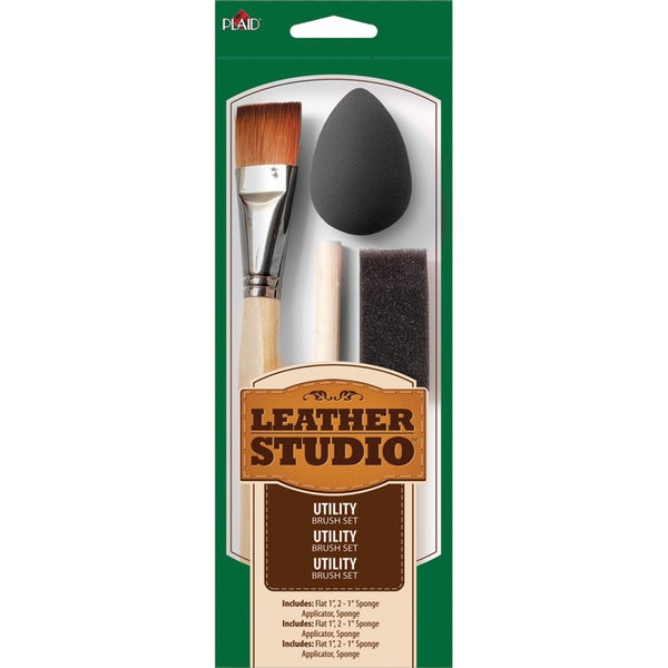 Leather Studio Utility Brush Kit