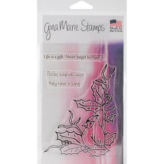 "Gina Marie Designs Clear Stamps 4""X6""-Cardinal"