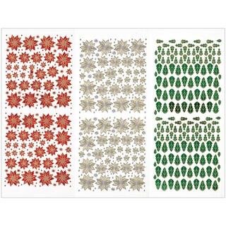 Dazzles Stickers 3/Pkg-Tiny Poinsettias