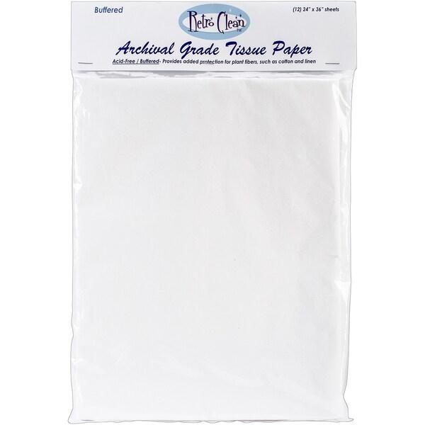 "Archival Grade Tissue Paper - Buffered-24""X36"" 12/Pkg"