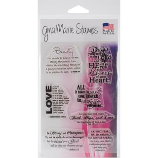 """Gina Marie Designs Clear Stamps 4""""X6""""-Great Bible Quotes"""