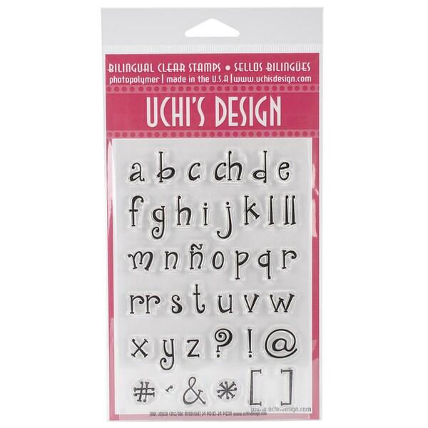 "Uchi's Design Bilingual Clear Stamp Set 4""X6"" Sheet-ABC Lower Case"