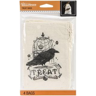 Jolee's Halloween Canvas Treat Bags 4/Pkg-Vintage
