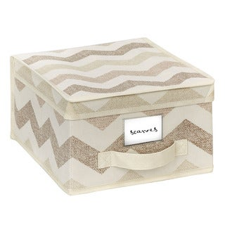 The Macbeth Collection Medium Textured Chevron Printed Storage Box