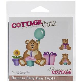"""Cottagecutz Die 4""""X4""""-Birthday Party Bear"""