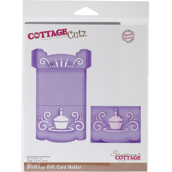 CottageCutz Die-Birthday Gift Card Holder