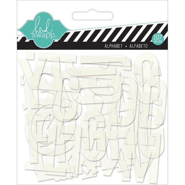 "Hello Today Clear Pop Acrylic Alphabet-White .75"" 107/Pkg"
