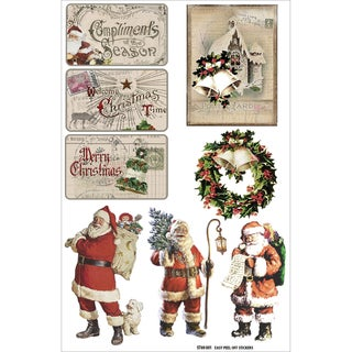 """Christmas Joy Clear Stickers 8.25""""X5.25""""-Pictures"""