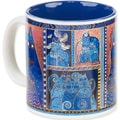 Laurel Burch Artistic Mug Collection-Indigo Cats Portrait