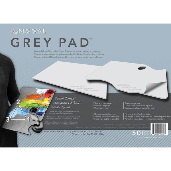 Gray Pad Disposable Palette Rectangular