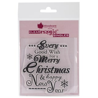 """Woodware Clear Stamps 3.5""""X3.5"""" Sheet-Every Good Wish"""