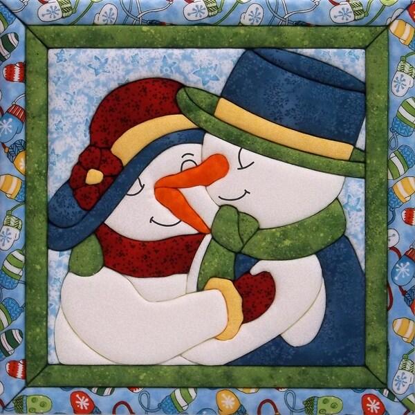 "Snow Couple Quilt Magic Kit-12""X12"""
