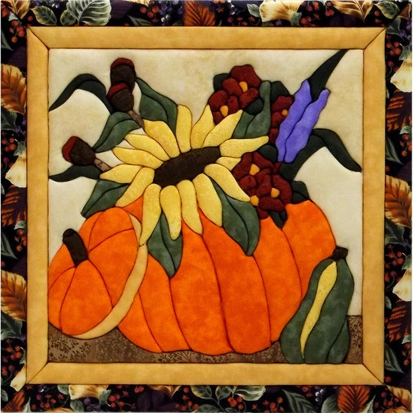 "Flowers In A Pumpkin Quilt Magic Kit-12""X12"""