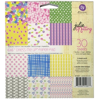 """Julie Nutting Double-Sided Paper Pad 6""""X6"""" 30/Sheets-Kaleidoscope"""