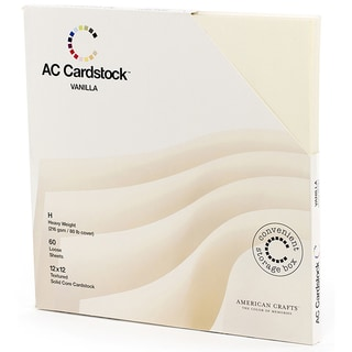 "American Crafts Seasonal Cardstock Pack 12""X12"" 60/Pkg-Vanilla"